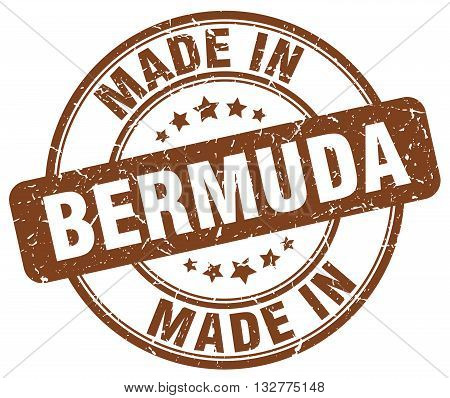 made in Bermuda brown round vintage stamp.Bermuda stamp.Bermuda seal.Bermuda tag.Bermuda.Bermuda sign.Bermuda.Bermuda label.stamp.made.in.made in.
