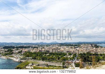 Europe Greece. Island of Corfu. A view of the city of Corfu from old fortress