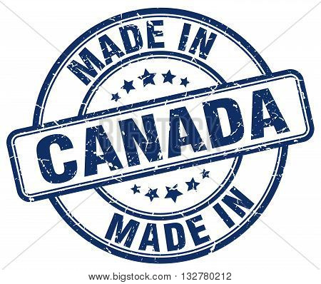 made in Canada blue round vintage stamp.Canada stamp.Canada seal.Canada tag.Canada.Canada sign.Canada.Canada label.stamp.made.in.made in.