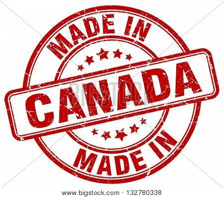 made in Canada red round vintage stamp.Canada stamp.Canada seal.Canada tag.Canada.Canada sign.Canada.Canada label.stamp.made.in.made in.