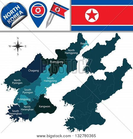 Map Of North Korea With Administrative Divisions