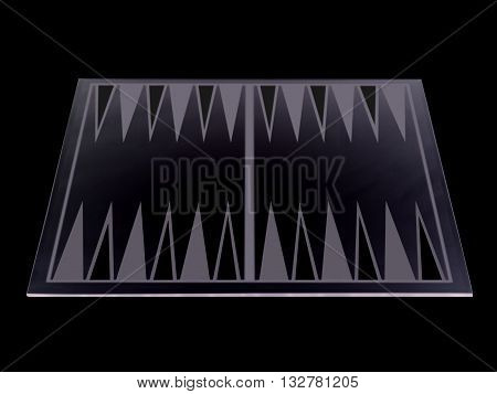 close up image of a backgammon isolated on a black background