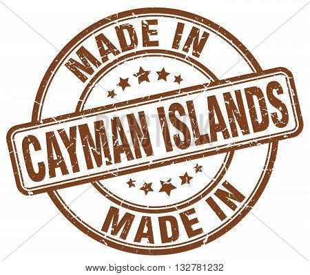 made in Cayman Islands brown round vintage stamp.Cayman Islands stamp.Cayman Islands seal.Cayman Islands tag.Cayman Islands.Cayman Islands sign.Cayman.Islands.Cayman Islands label.stamp.made.in.made in.