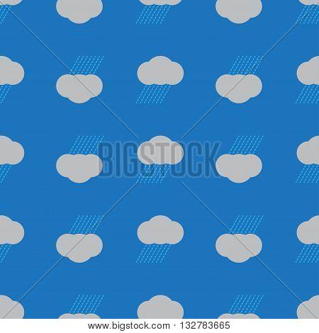 Rain Cloud Seamless Background