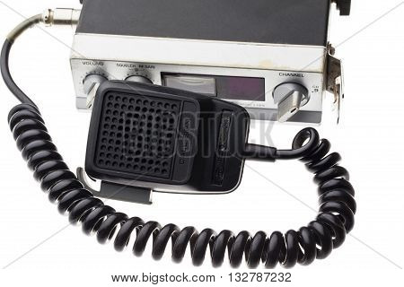 image of cb radio isolated on white background