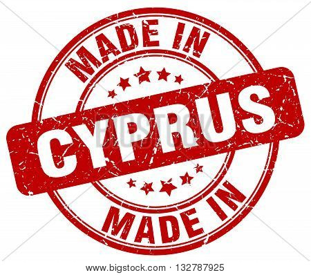 made in Cyprus red round vintage stamp.Cyprus stamp.Cyprus seal.Cyprus tag.Cyprus.Cyprus sign.Cyprus.Cyprus label.stamp.made.in.made in.