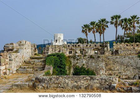 Neratzia fortress, Kos town, Kos island, Dodecanese, Greece.