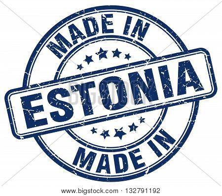 made in Estonia blue round vintage stamp.Estonia stamp.Estonia seal.Estonia tag.Estonia.Estonia sign.Estonia.Estonia label.stamp.made.in.made in.