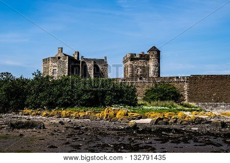 Blackness Castle on the Firth of Forth taken from the shore