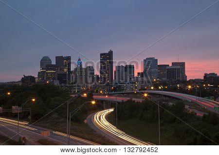 Twilight in Columbus, Ohio