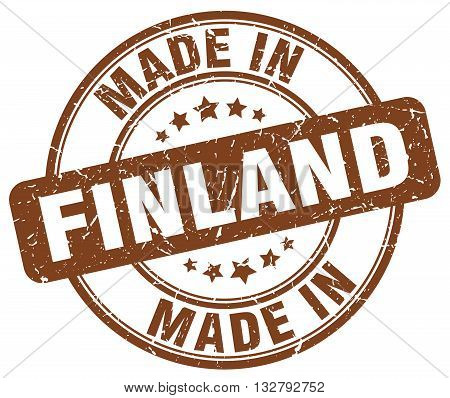 made in Finland brown round vintage stamp.Finland stamp.Finland seal.Finland tag.Finland.Finland sign.Finland.Finland label.stamp.made.in.made in.