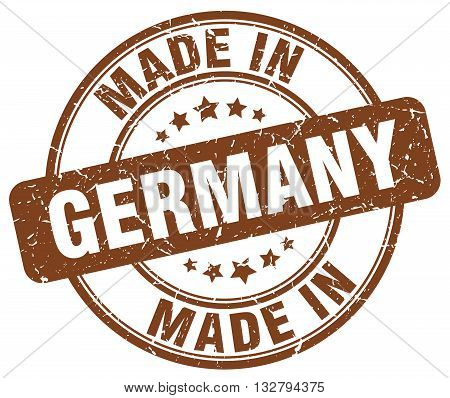 made in Germany brown round vintage stamp.Germany stamp.Germany seal.Germany tag.Germany.Germany sign.Germany.Germany label.stamp.made.in.made in.