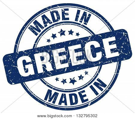 made in Greece blue round vintage stamp.Greece stamp.Greece seal.Greece tag.Greece.Greece sign.Greece.Greece label.stamp.made.in.made in.