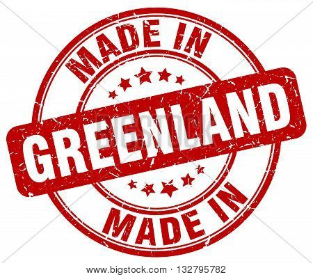 made in Greenland red round vintage stamp.Greenland stamp.Greenland seal.Greenland tag.Greenland.Greenland sign.Greenland.Greenland label.stamp.made.in.made in.