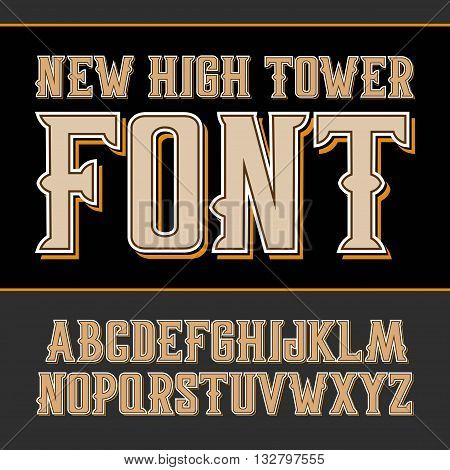 Vector Handy Crafted Vintage Label Font