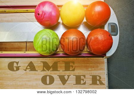 The Word Game Over Background Bowling Balls