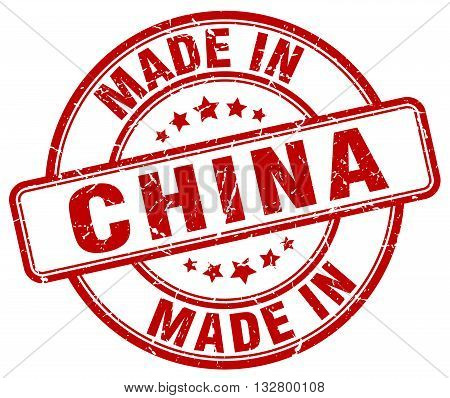 made in China red round vintage stamp.China stamp.China seal.China tag.China.China sign.China.China label.stamp.made.in.made in.