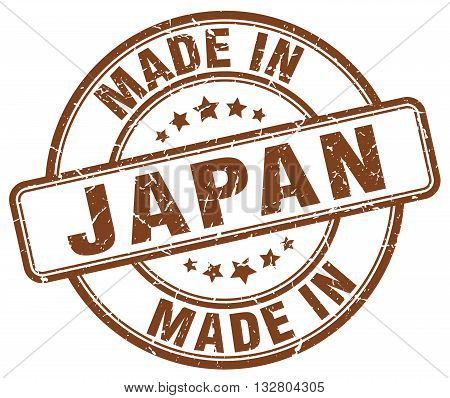 made in Japan brown round vintage stamp.Japan stamp.Japan seal.Japan tag.Japan.Japan sign.Japan.Japan label.stamp.made.in.made in.