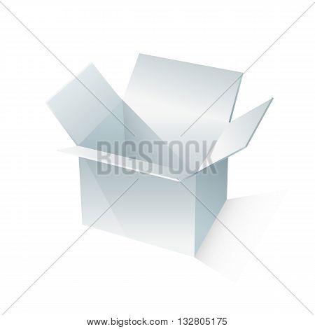 white box packaging. vector illustration on white backgrond