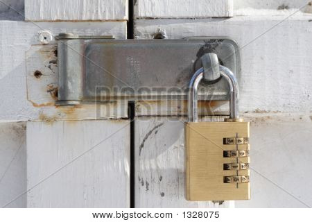 Doors Locked With Pad Lock