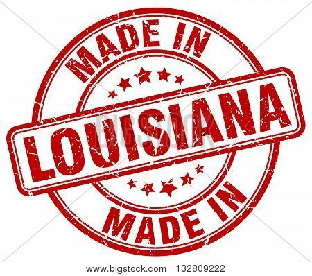 made in Louisiana red round vintage stamp.Louisiana stamp.Louisiana seal.Louisiana tag.Louisiana.Louisiana sign.Louisiana.Louisiana label.stamp.made.in.made in.