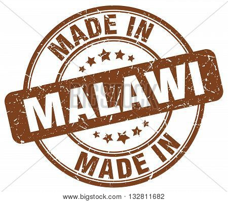 made in Malawi brown round vintage stamp.Malawi stamp.Malawi seal.Malawi tag.Malawi.Malawi sign.Malawi.Malawi label.stamp.made.in.made in.