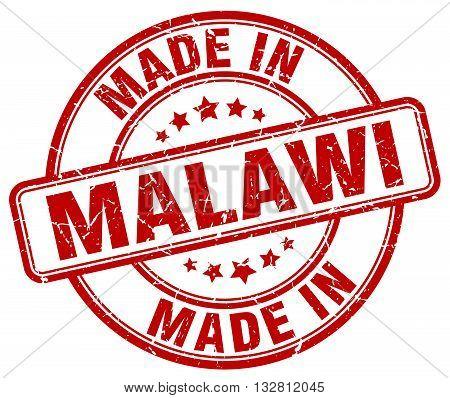 made in Malawi red round vintage stamp.Malawi stamp.Malawi seal.Malawi tag.Malawi.Malawi sign.Malawi.Malawi label.stamp.made.in.made in.