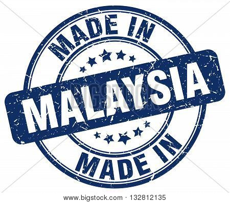 made in Malaysia blue round vintage stamp.Malaysia stamp.Malaysia seal.Malaysia tag.Malaysia.Malaysia sign.Malaysia.Malaysia label.stamp.made.in.made in.