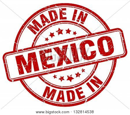 made in Mexico red round vintage stamp.Mexico stamp.Mexico seal.Mexico tag.Mexico.Mexico sign.Mexico.Mexico label.stamp.made.in.made in.