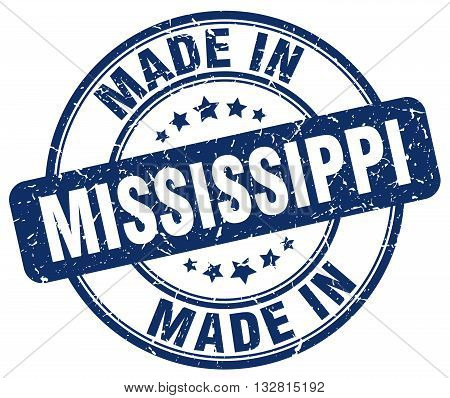 made in Mississippi blue round vintage stamp.Mississippi stamp.Mississippi seal.Mississippi tag.Mississippi.Mississippi sign.Mississippi.Mississippi label.stamp.made.in.made in.