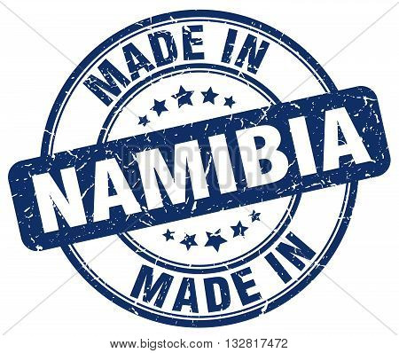made in Namibia blue round vintage stamp.Namibia stamp.Namibia seal.Namibia tag.Namibia.Namibia sign.Namibia.Namibia label.stamp.made.in.made in.