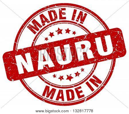 made in Nauru red round vintage stamp.Nauru stamp.Nauru seal.Nauru tag.Nauru.Nauru sign.Nauru.Nauru label.stamp.made.in.made in.