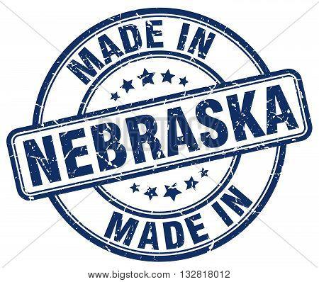 made in Nebraska blue round vintage stamp.Nebraska stamp.Nebraska seal.Nebraska tag.Nebraska.Nebraska sign.Nebraska.Nebraska label.stamp.made.in.made in.