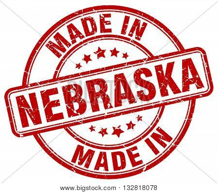 made in Nebraska red round vintage stamp.Nebraska stamp.Nebraska seal.Nebraska tag.Nebraska.Nebraska sign.Nebraska.Nebraska label.stamp.made.in.made in.
