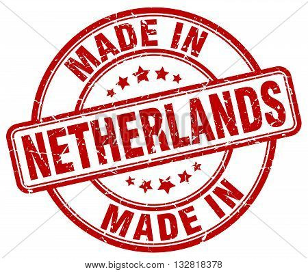 made in Netherlands red round vintage stamp.Netherlands stamp.Netherlands seal.Netherlands tag.Netherlands.Netherlands sign.Netherlands.Netherlands label.stamp.made.in.made in.