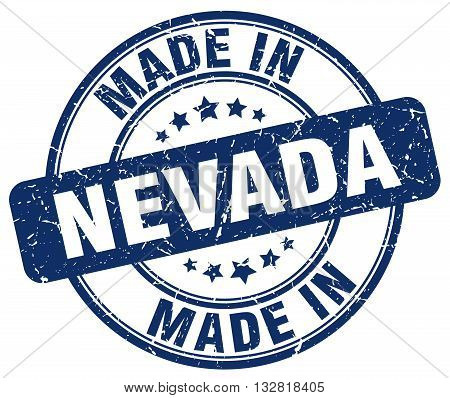 made in Nevada blue round vintage stamp.Nevada stamp.Nevada seal.Nevada tag.Nevada.Nevada sign.Nevada.Nevada label.stamp.made.in.made in.