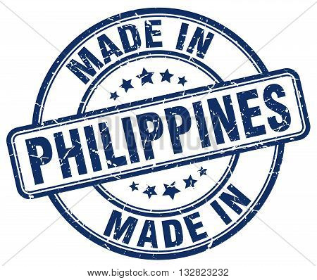made in Philippines blue round vintage stamp.Philippines stamp.Philippines seal.Philippines tag.Philippines.Philippines sign.Philippines.Philippines label.stamp.made.in.made in.