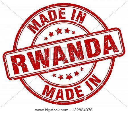 made in Rwanda red round vintage stamp.Rwanda stamp.Rwanda seal.Rwanda tag.Rwanda.Rwanda sign.Rwanda.Rwanda label.stamp.made.in.made in.