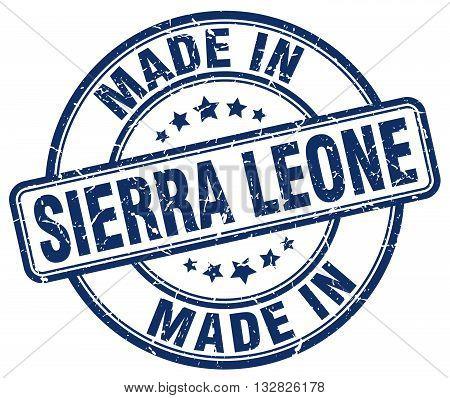 made in Sierra Leone blue round vintage stamp.Sierra Leone stamp.Sierra Leone seal.Sierra Leone tag.Sierra Leone.Sierra Leone sign.Sierra.Leone.Sierra Leone label.stamp.made.in.made in.