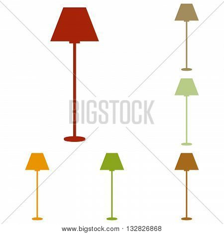 Lamp simple sign. Colorful autumn set of icons.