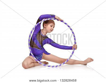 Girl Gymnast With Hoop