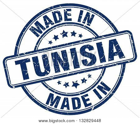 made in Tunisia blue round vintage stamp.Tunisia stamp.Tunisia seal.Tunisia tag.Tunisia.Tunisia sign.Tunisia.Tunisia label.stamp.made.in.made in.