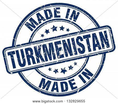 made in Turkmenistan blue round vintage stamp.Turkmenistan stamp.Turkmenistan seal.Turkmenistan tag.Turkmenistan.Turkmenistan sign.Turkmenistan.Turkmenistan label.stamp.made.in.made in.