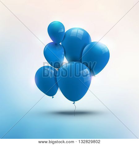Composition of red ballons, greeting and holiday concept.