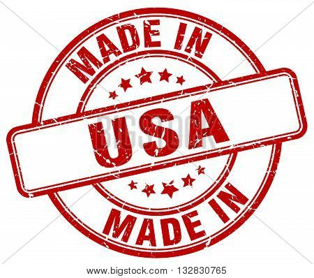 made in usa red round vintage stamp.usa stamp.usa seal.usa tag.usa.usa sign.usa.usa label.stamp.made.in.made in.