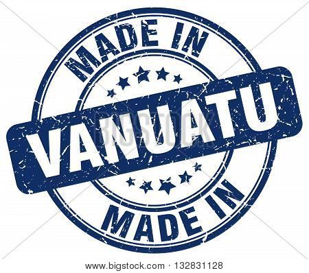 made in Vanuatu blue round vintage stamp.Vanuatu stamp.Vanuatu seal.Vanuatu tag.Vanuatu.Vanuatu sign.Vanuatu.Vanuatu label.stamp.made.in.made in.