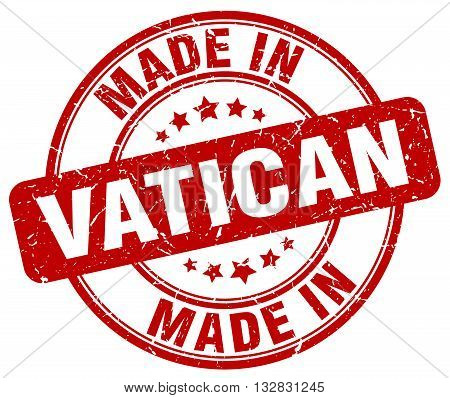 made in Vatican red round vintage stamp.Vatican stamp.Vatican seal.Vatican tag.Vatican.Vatican sign.Vatican.Vatican label.stamp.made.in.made in.