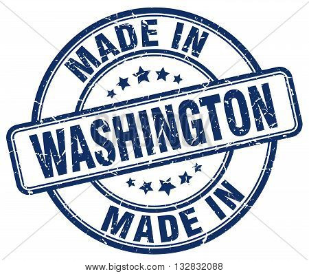 made in Washington blue round vintage stamp.Washington stamp.Washington seal.Washington tag.Washington.Washington sign.Washington.Washington label.stamp.made.in.made in.