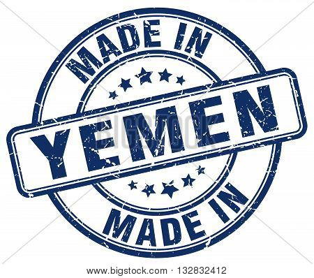 made in Yemen blue round vintage stamp.Yemen stamp.Yemen seal.Yemen tag.Yemen.Yemen sign.Yemen.Yemen label.stamp.made.in.made in.