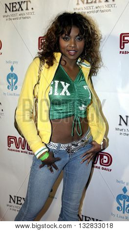 Taraji Henson at the 2nd Semi Annual Fashion Wire Daily's event NEXT at Mondrian Hotel's SkyBar in West Hollywood, USA on October 25, 2004.